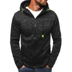 Image 4 - Men Sports Casual Hoodies Wear Zipper COPINE Fashion Tide Jacquard Fleece Jacket Fall Sweatshirts AutumnWinter Coat dropshipping