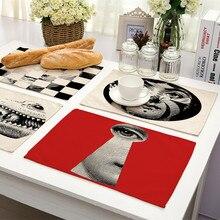 1 шт. Ретро fornazetti Artical обеденный стол хлопок печать Placemat установка салфетки столовая миска пластина коврик Подставки Коврик