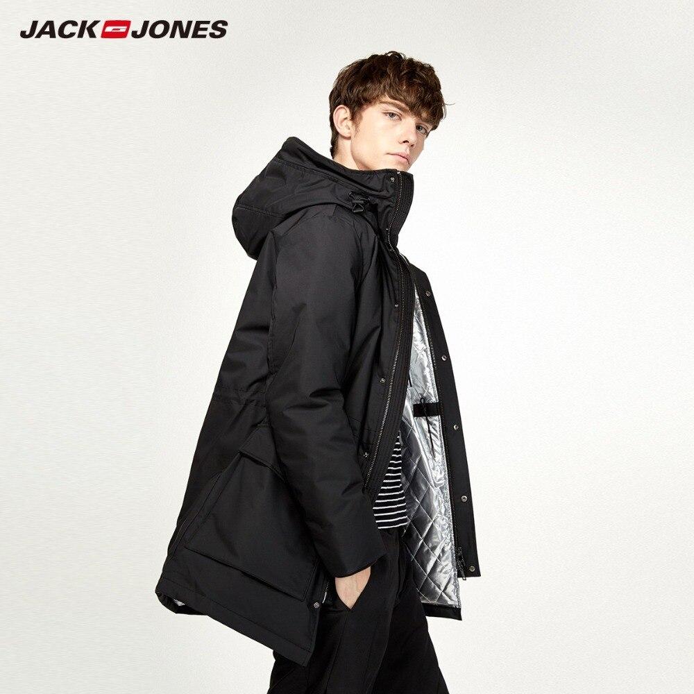 JackJones Men's Winter Hooded   Down   Jacket Casual Fashion Parka   Coat   Long style Menswear 218312518