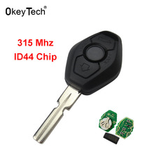 OkeyTech  ID44 Chip 315Mhz or 433Mhz 3 Buttons Remote Car Key for BMW E46 E38 E39 1/3/5/7 Series X3 X5 Z3 Z4 for BMW EWS System