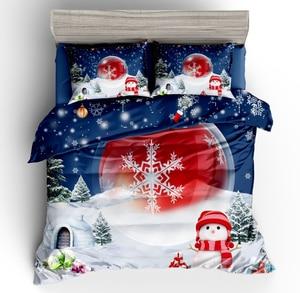 Image 5 - Wazir 3D Kerst Print Bedding Set Dekbedovertrek Kussenslopen Trooster Beddengoed Sets Thuis Textiel Beddengoed Beddengoed