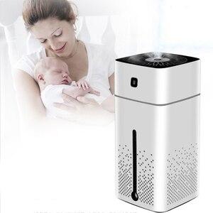 Image 2 - 1000Ml nawilżacz powietrza ultradźwiękowy dyfuzor Usb zapachowy olejek eteryczny Led Night Light oczyszczacz rozpylający mgiełkę nawilżacz biały