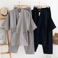 2017 Traditional Japanese Kimonos Men's Japan Cotton Yukata Men's Lounge Home Clothing Suits Men's Sleepwear Pajamas 021505
