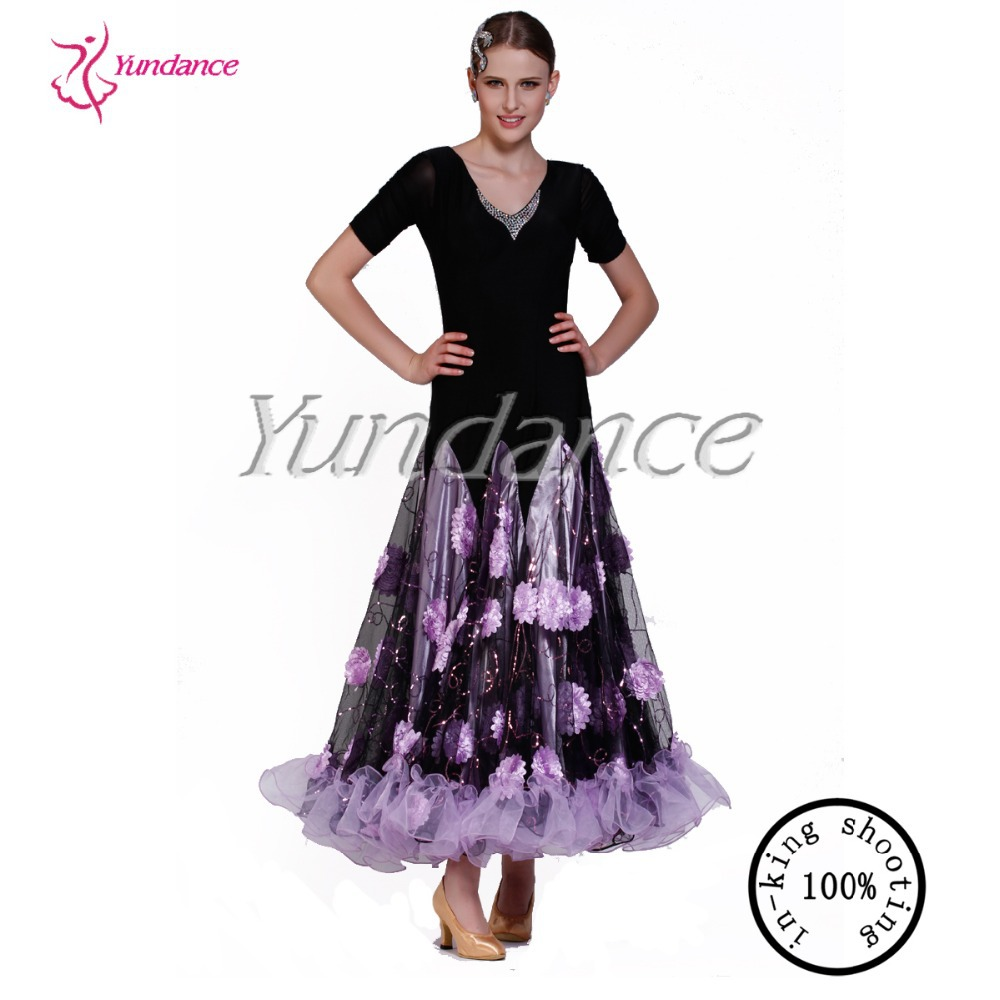 2017 New Floral Patterns For Practicing New Ballroom Dance Long ...