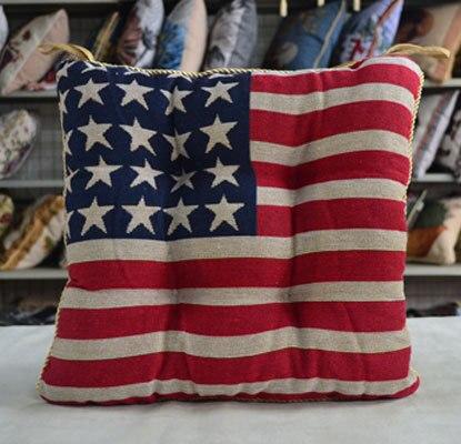 Beau Hot New American Flag Chair Cushion Filling Cotton Linen Cushion Fat Pad  United States Bread Mat