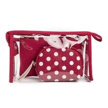 new dot sheer composite bags brand lady three piece set handbag suit