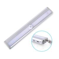 NEW LED Cabinet Light 10leds LED Night Lamp 6V Motion Sensor Light IR Motion Detector Wireless