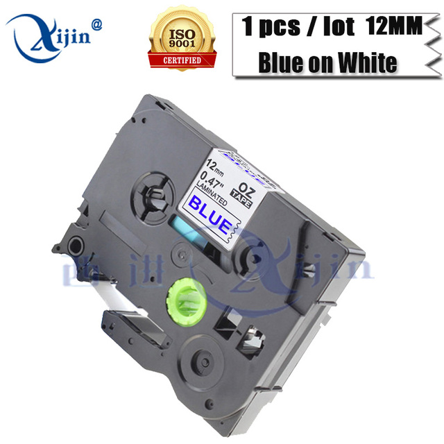 US $3 75 |XIJIN 1pcs Label Cassette Compatible For Brother P Touch TZe 233  TZ233 12mm Printer Ribbon Blue on White-in Printer Ribbons from Computer &