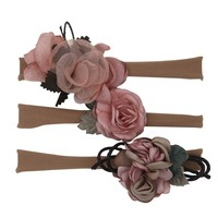 New0 4T Comfortable 3Pcs Infant Baby Girls Kids Toddler Newborn Flower Design Hairband Headwear Hair Accessories New