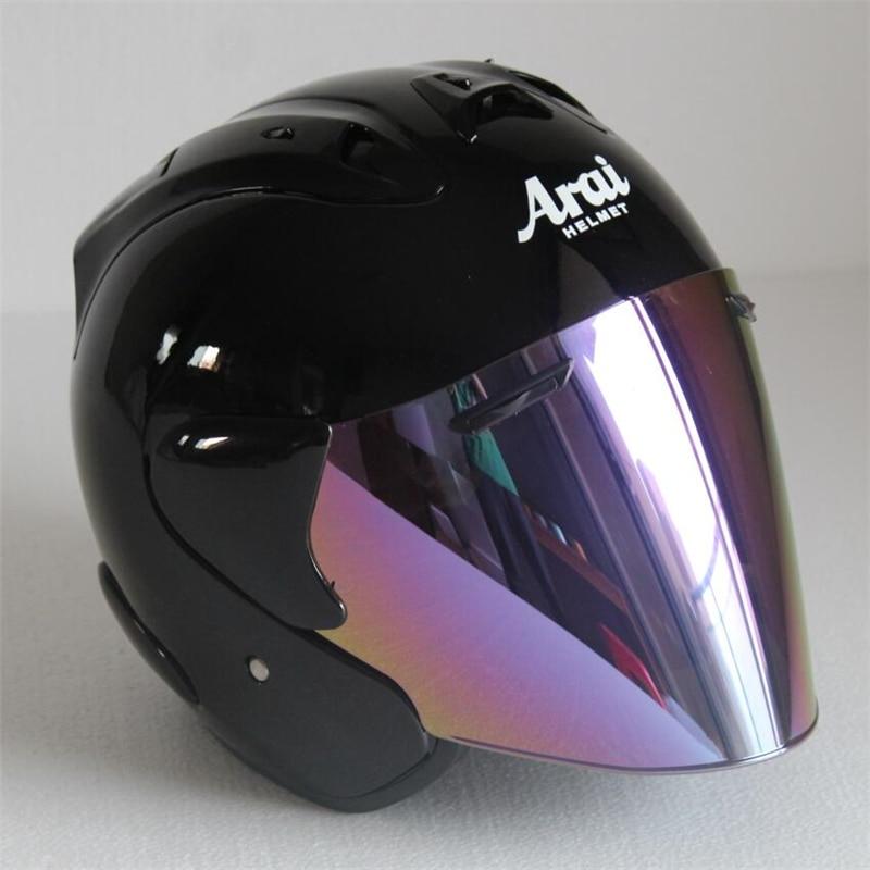 2017 haut de gamme ARAI R3 casque moto casque demi casque ouvert visage casque motocross taille: S M L XL XXL,, Capacete