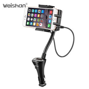 weishan Wireless FM Transmitter Radio Car Kit for Smart Phones bundle with 3.5mm Audio Plug and Car Charger
