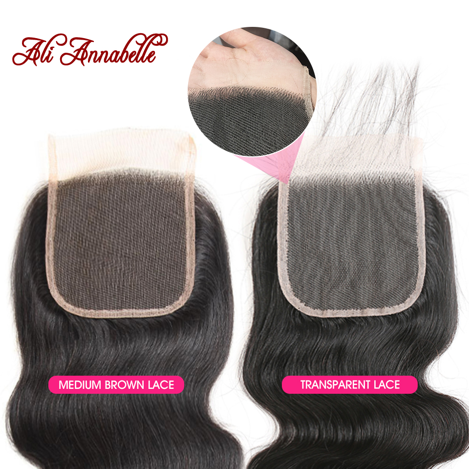 ALI ANNABELLE HAIR Brazilian Body Wave Remy Human Hair Bundles With Closure Brazilian Human Hair Weave ALI ANNABELLE HAIR Brazilian Body Wave Remy Human Hair Bundles With Closure Brazilian Human Hair Weave Bundles with Closure