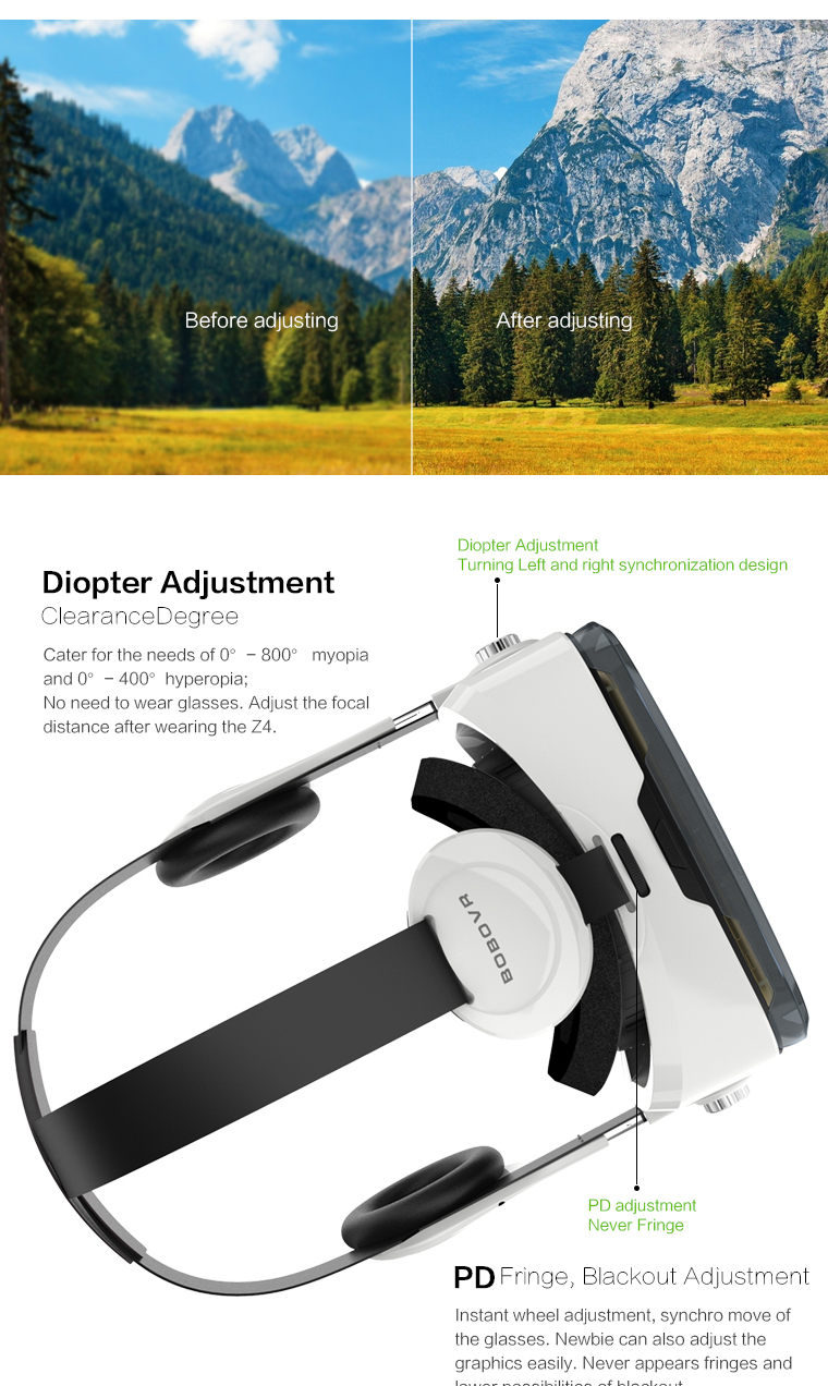 Original brand BOBOVR Z4 xiaozhai Virtual Reality 3D VR Glasses cardboard bobo vr z4 for 3.5 - 6.0 inch smartphones Immersive 5