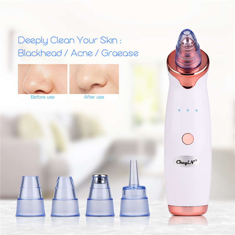 Microdermabrasion Blackhead Remover Vacuum Suction Face Pimple Acne Comedone Extractor Facial Pores Cleaner Skin Care Tools 38