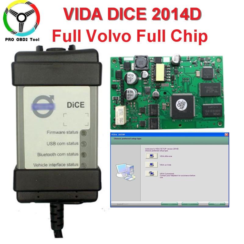 2018 Newest Version For Volvo Vida Dice 2014D Professional Car Diagnostic Tool Dice Pro Full Chip