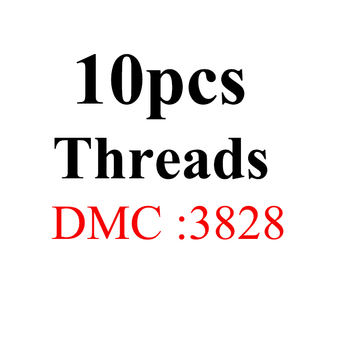 Snowlover, рукоделие, 10 шт./лот, 1,2 м, разные цвета, DMC3824-3848, вышивка крестиком, хлопковое шитье, моток пряжи, нить для вышивки - Цвет: 1.2mthread-DMC3828
