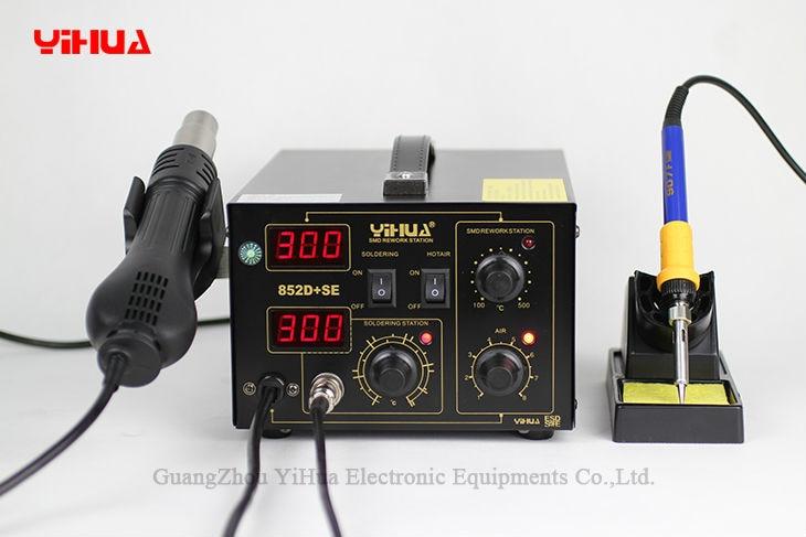 YIHUA 852D+SE Standard Rework Station Soldering iron Hot Air Rework Station Hot Air Gun soldering station 220V /110V EU/US PLUG цены
