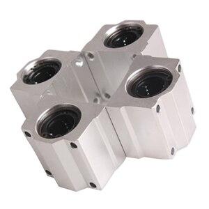 4 шт. SC20UU 20 мм алюминиевая линейного движения шариковых подшипников втулка для ЧПУ
