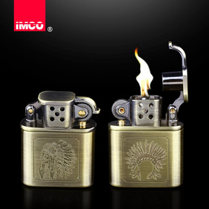 Image 3 - 2018 עיצוב רטרו בנזין Lighter סיגריה גלגל שחיקה גז שמן נפט קל הגאדג טים גברים רטרו בר מציתי סיגר טבק