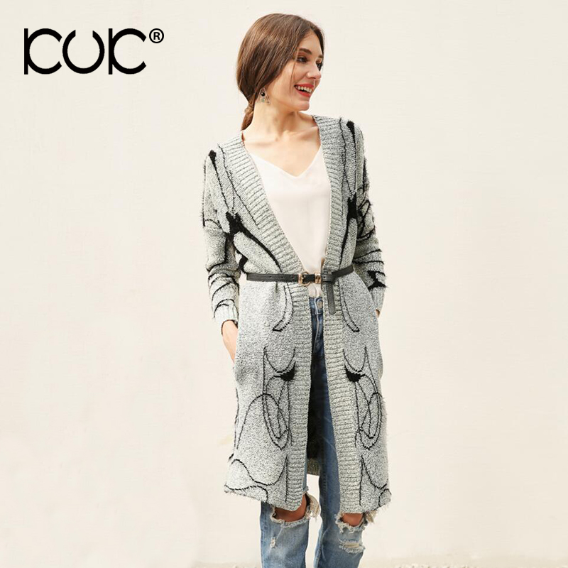 Kuk 2017 Long Cardigan Sweater Women Ladies Jumper Knitwear Warm ...