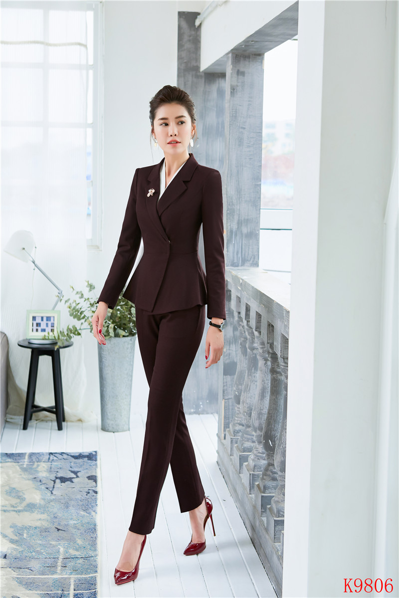 Women's Clothing 2019 Spring Summer Formal Elegant Womens Pant Suit For Ladies Business Suits Blazer And Jacket Sets Work Wear Office Uniform