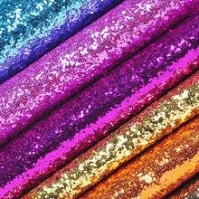 100x130cm Tissus Glitter Vinyl Fabric Leather Metallic Leather Furnishing  Fabric Simili Cuir Tissus Plakfolie Voor Meubelen 4fc30e545b80