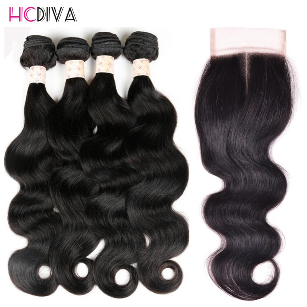 peruvian virgin hair body wave with closure 1