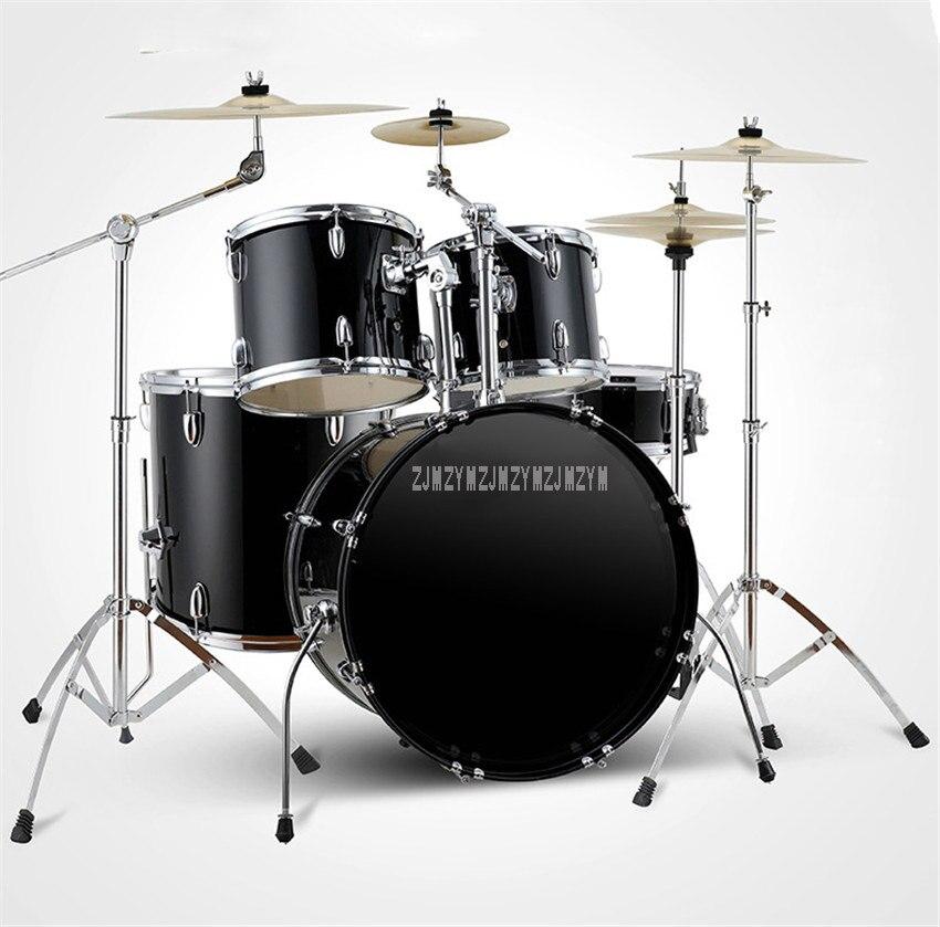 Взрослый/ребенок Профессиональная музыка джаз Drum Set Комплект 5 Барабаны 4/2 тарелки Двойной кожи масло барабан сплав музыкальных инструменто