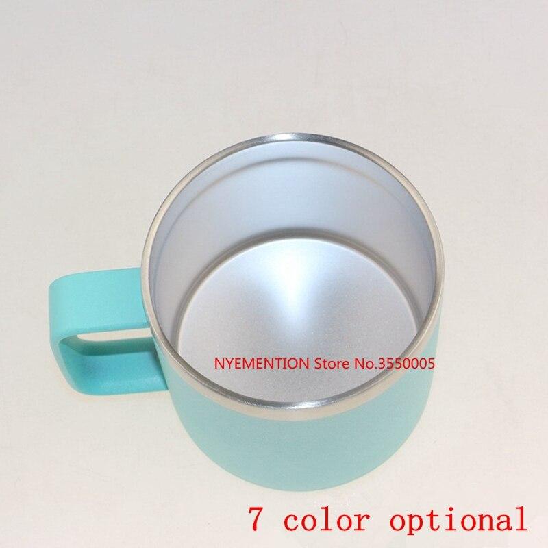 25Pcs/lot new 14oz / 400ml Stainless Steel Beer Mug With Handle Coffee Cups Double Wall Coffee Mugs Milk Tea Cup Creative Gift