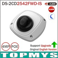 Free Shipping 6pcs Lot By DHL HIK IP Camera DS 2CD2542FWD IS Full HD 4MP Built