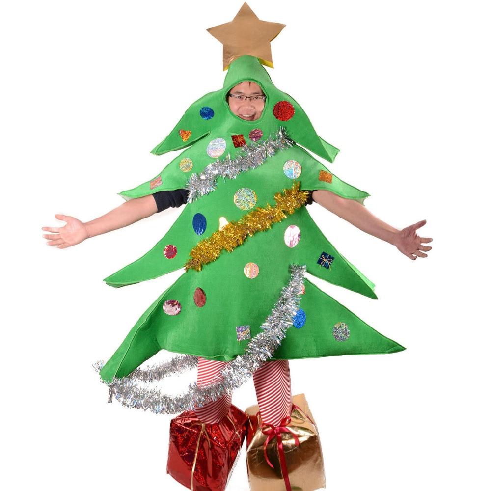 Christmas Tree Costume Santa Mascot Funny