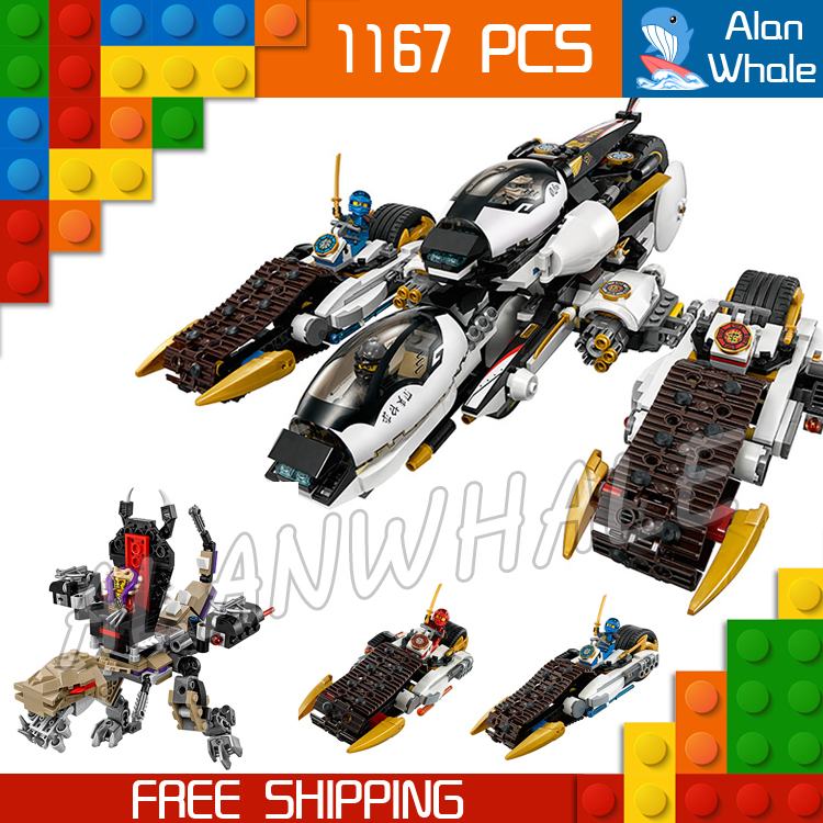 цены 1167pcs 2016 Bela 10529 Ninja Ultra Stealth Raider Building Blocks Jay Lloyd Brick Toys Compatible With lego