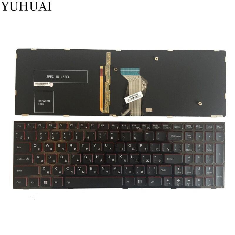 NEW Russian Laptop Keyboard For Lenovo Y590 Y500 Y510P RU Laptop Keyboard With Frame Blacklight new russian laptop keyboard for lenovo b5400 b5400a m5400 m5400at ru keyboard black