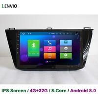 Lenvio 4 г Оперативная память 32 г Встроенная память Восьмиядерный Android 8,0 автомобиль DVD gps навигации плеер для Фольксваген Tiguan 2016 2017 стерео радио