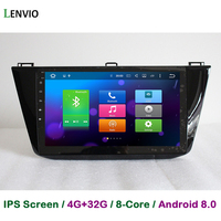 Lenvio 4G RAM 32G ROM Octa Core Android 8.0 CAR DVD GPS Navigation Player For VW Volkswagen Tiguan 2016 2017 stereo radio BT IPS