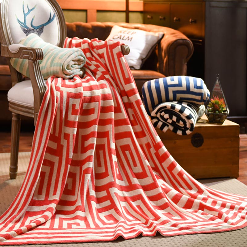 Beroyal Brand Throw Blanket - 1PC 100% Cotton Knitted Blanket Adult Blanket Spring/Autumn Sofa Blanket cobertor 130x150cm 5