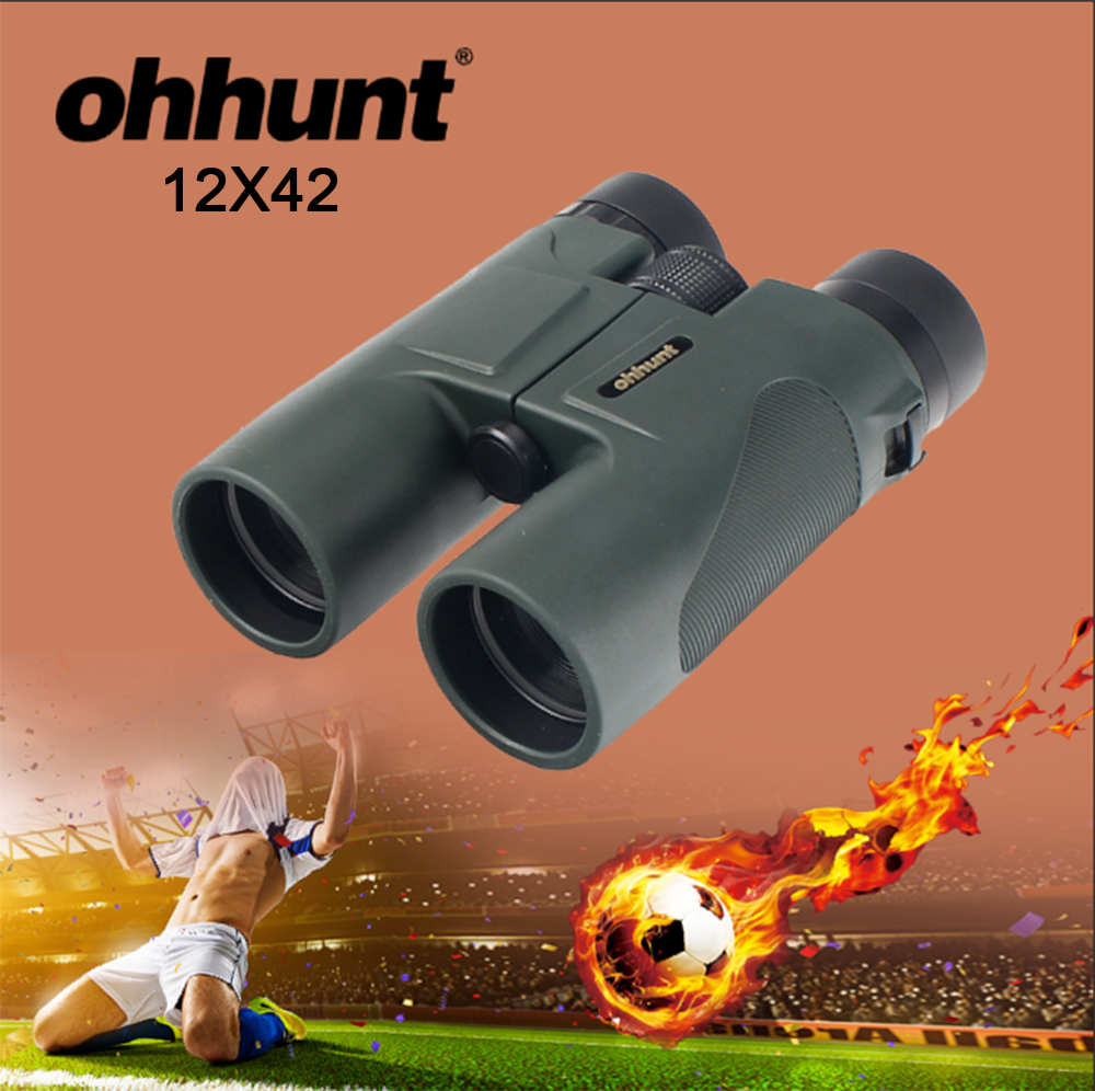 ohhunt Military 12X42 HD Telescope Wide angle Power Zoom Binoculars No Infrared Eyepiece for Russia Football