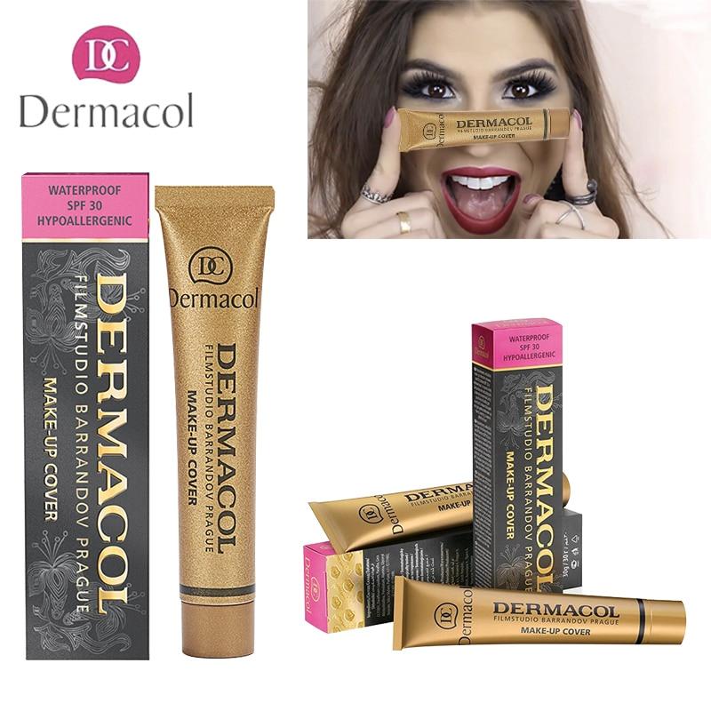 Dermacol Base Makeup 100% Original Cover 30g Primer Concealer Cream Professional Dermacol Make up Foundation Contour Palette недорого