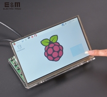 E&M 7 Inch 1024x600 Capacitive Touch Display IPS Screen LCD Monitors Module HMDI Portable Raspberry Pi 3 B Windows Linux