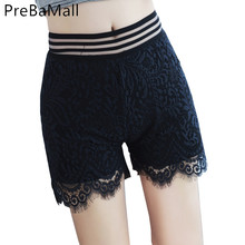 Woman Summer Lace Floral Shorts New Arrived Ladies Mini Mesh Crochet Slim Tiered Women Short Pants Clothing C238