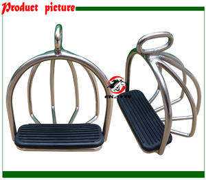 Stirrup with Bars-Never Rusted Horse-Product ST2111 SS