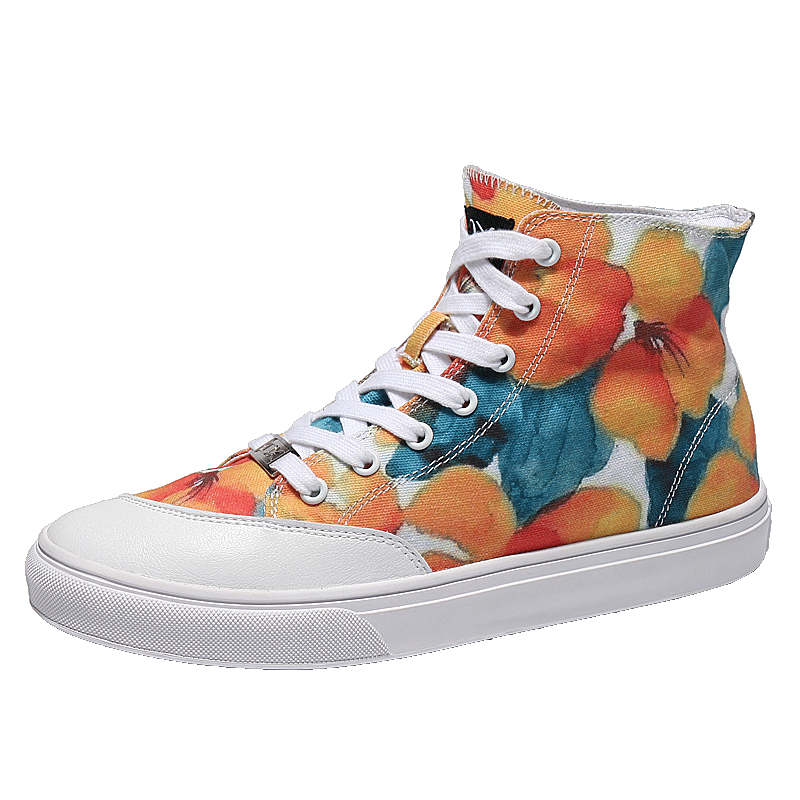 Süße Frau Doodle Blumen Leinwand Skateboard Schuhe Jugend Damen Sneaker Sportschuhe Joggen Camping Hallo-spitze Skateboard Stiefel Mit Einem LangjäHrigen Ruf