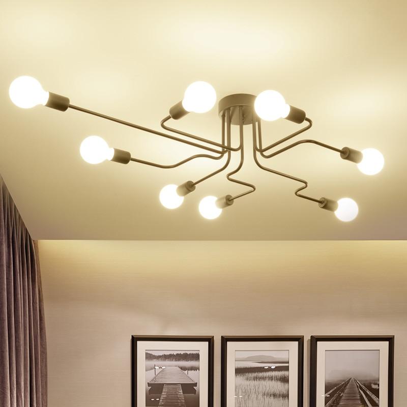 ФОТО Retro industrial ceiling lights  and use the international standard E27 lamp holder living room art lighting fixtures
