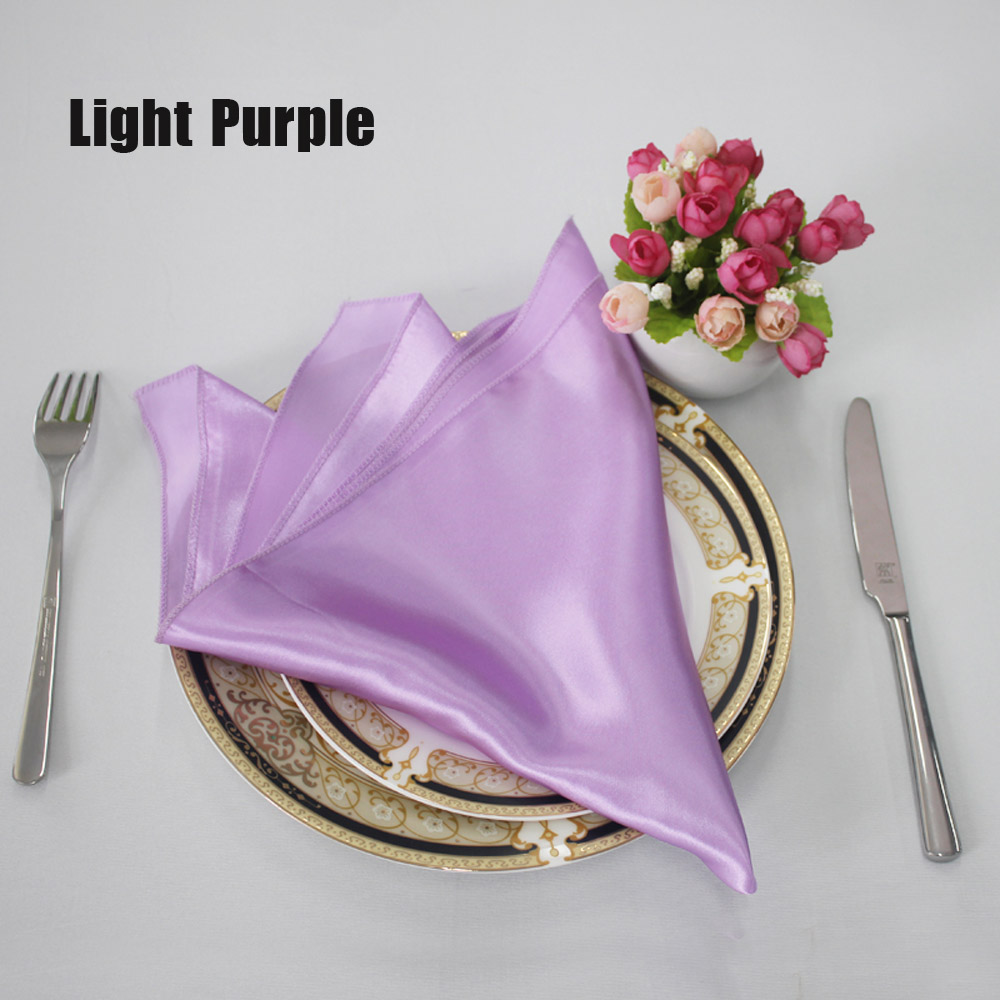 """Napkin Folding Ideas For Weddings: 50pcs/lot 19"""" Red/White Multi Color Hotel Banquet Satin"""