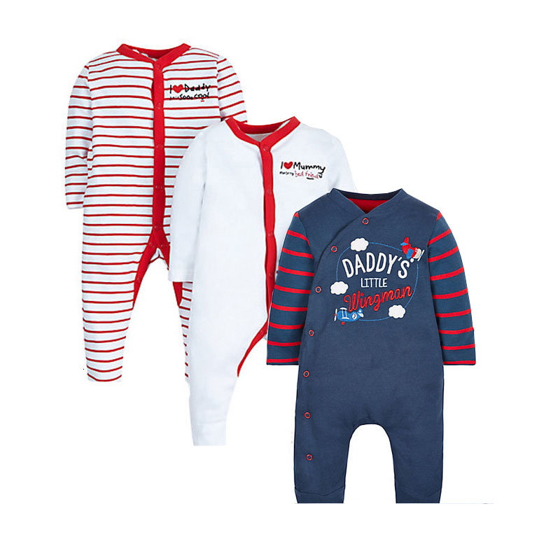 3a5d5228f Unisex Baby Rompers Striped Newborn Baby Clothes Long Sleeve I love ...