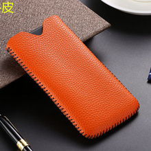 6 Colors Real Leather Pull Sleeve Pouch Phone Case for iPhone 6 6S 7 8 Plus Genuine Cowhide Cow Skin Wallet Bag For iPhone8
