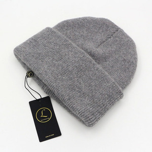 Image 2 - GZhilovingL Winter Famous Warm Wool Genuine Cap Casual Skullies Knitted Hats Black Rabbit Lana Knitted Hats Mens wool thick Hat