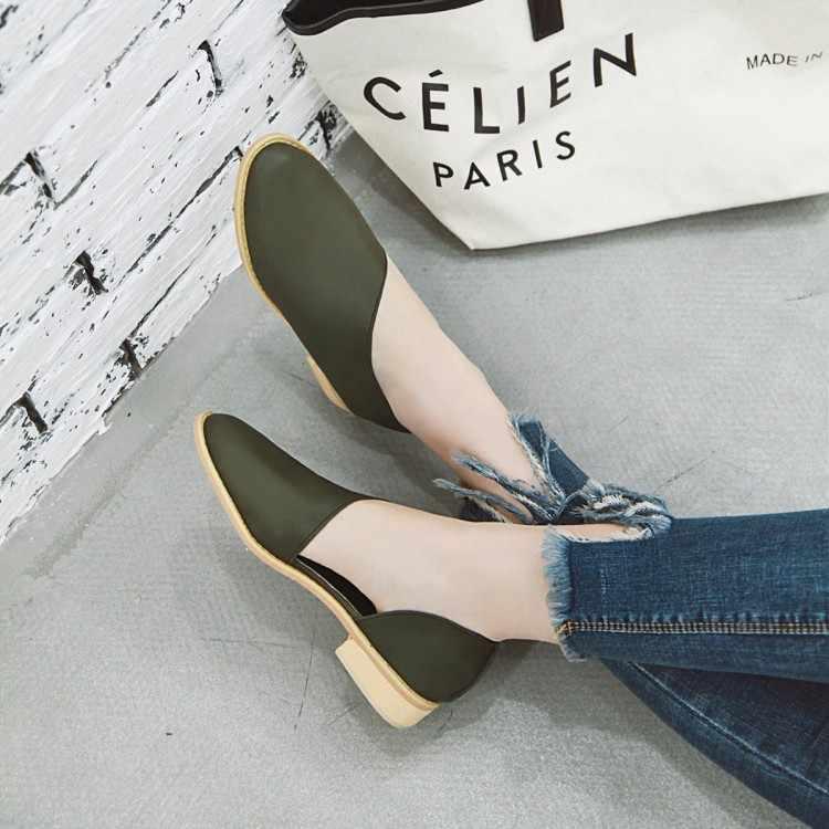 Size Lớn 11 12 13 14 15 nền tảng giày nữ giày nữ người phụ nữ bơm nữ La Mã Phong Cách Đầu Tròn Retro thô Gót với Trung Gót