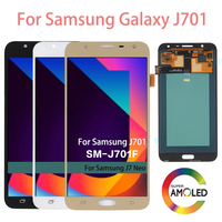 Super AMOLED LCD For Samsung Galaxy J7 neo J701 J701F J701M J701MT LCD Display Touch Screen Assembly Digitizer Replacement Tools