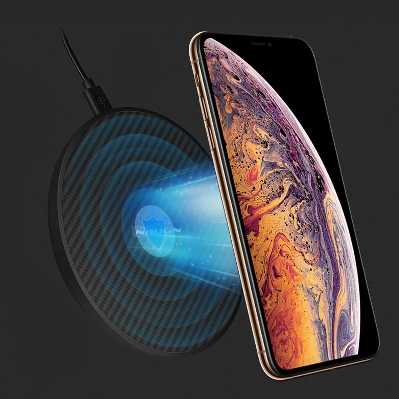 Nillkin 15 w Veloce Caricatore Senza Fili per iPhoneX XS Max XR Qi Veloce In Fibra di Pad di Ricarica Senza Fili Per La Galassia Note9 s9 S9 + S8 S8 Più